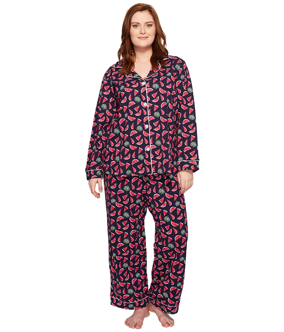 BedHead - Plus Size Long Sleeve Classic Pajama Set (Taste of Summer) Women's Pajama Sets