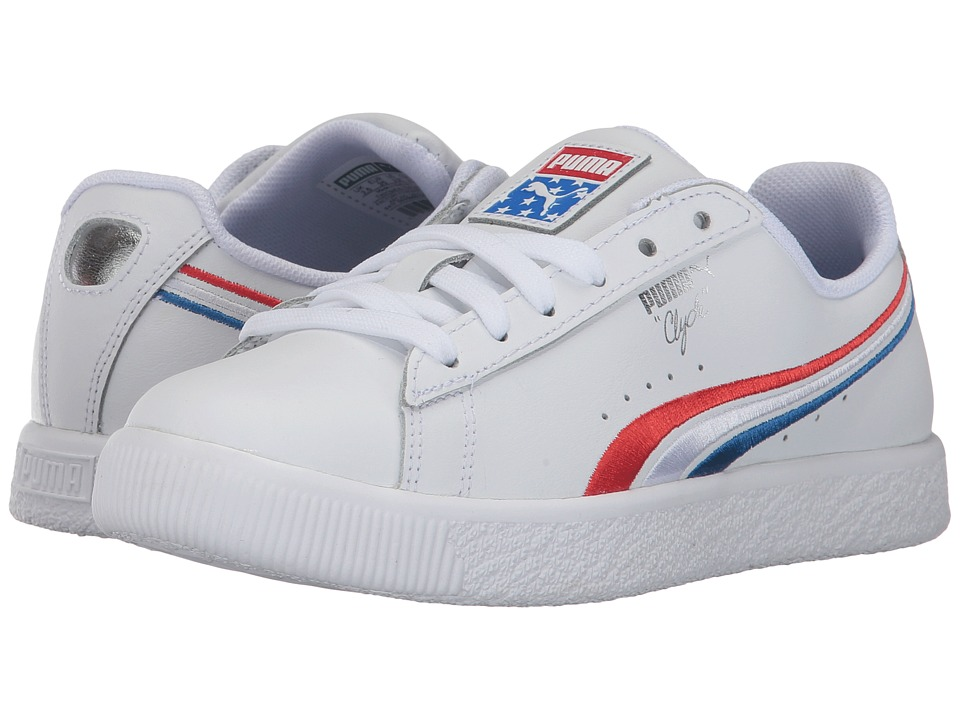 Puma Kids - Clyde 4th of July (Little Kid/Big Kid) (High Risk Red/Puma Royal/Puma White) Boy's Shoes