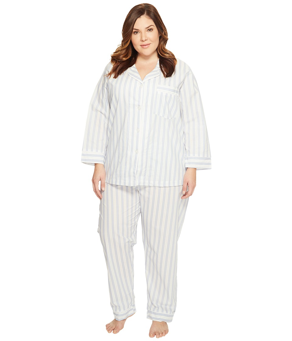 BedHead - Plus Size Long Sleeve Classic PJ Set (Periwinkle Maypole) Women's Pajama Sets