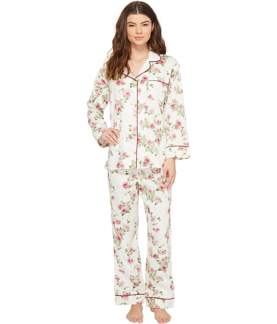 BedHead - Long Sleeve Classic Pajama Set (Dahlia) Women's Pajama Sets