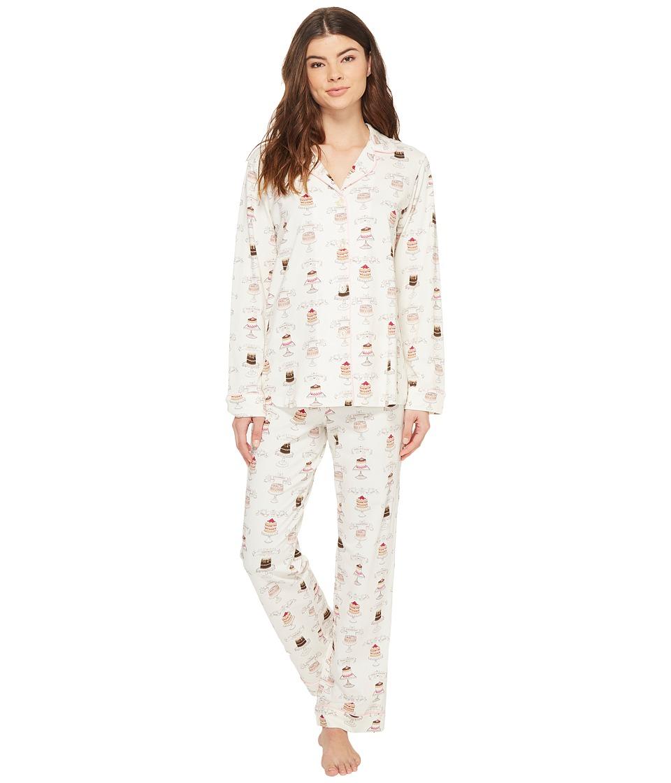 BedHead - Long Sleeve Classic Pajama Set (Let Them Eat Cake) Women's Pajama Sets