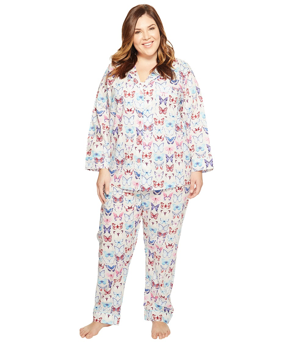 BedHead - Plus Size Long Sleeve Classic PJ Set (A Flutter) Women's Pajama Sets