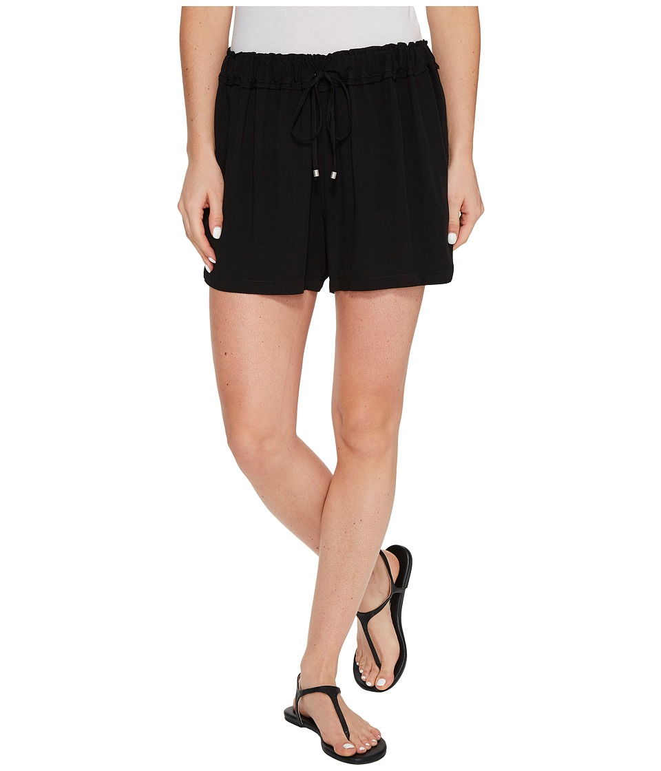 Splendid - Ruffle Waist Shorts (Black) Women's Shorts