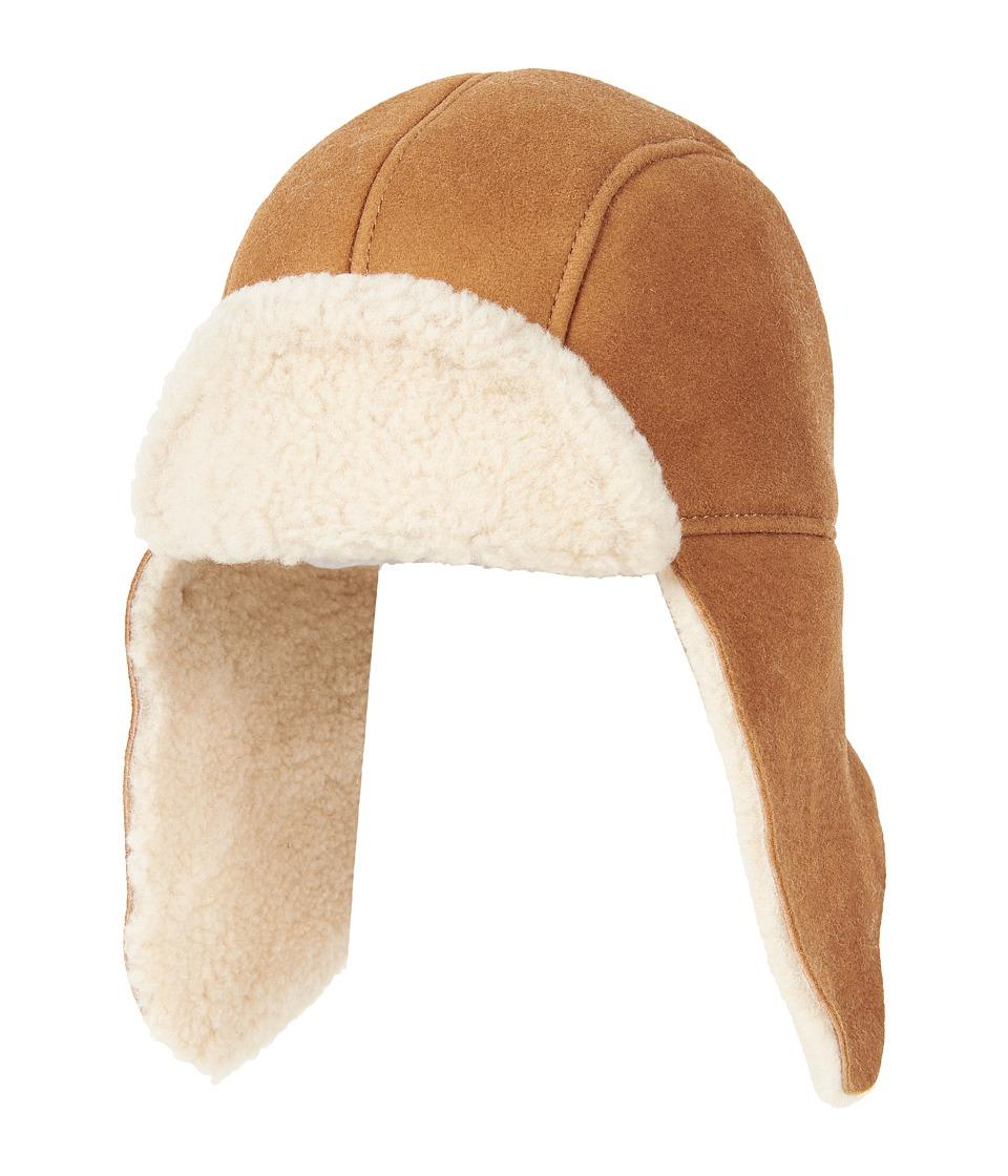 UGG Kids Sheepskin Trapper (Toddler/Little Kids) (Chestnut Curl) Cold Weather Hats