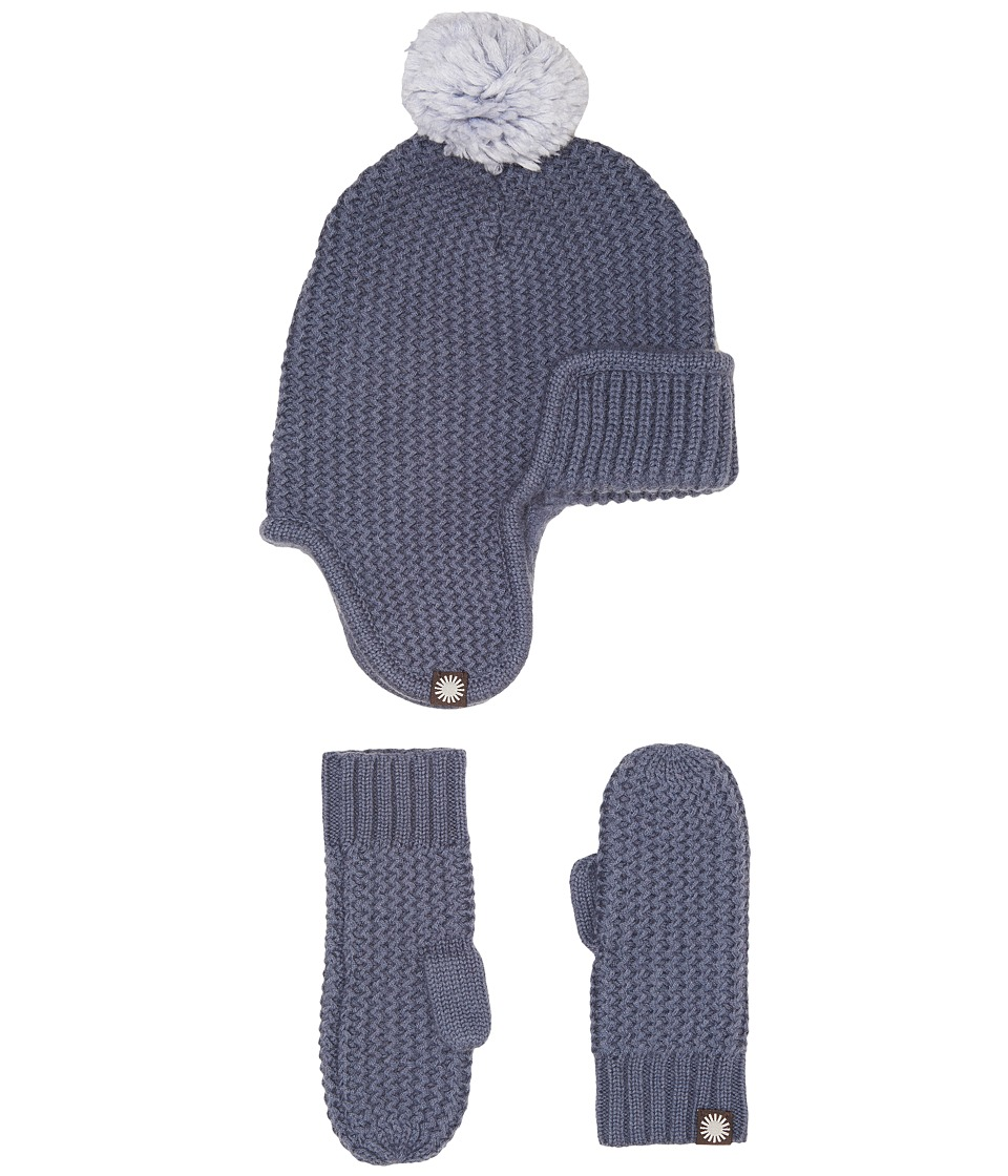 UGG Kids Trapper Hat/Mitten Gift Set (Toddler/Little Kids) (Nocturn Multi) Cold Weather Hats