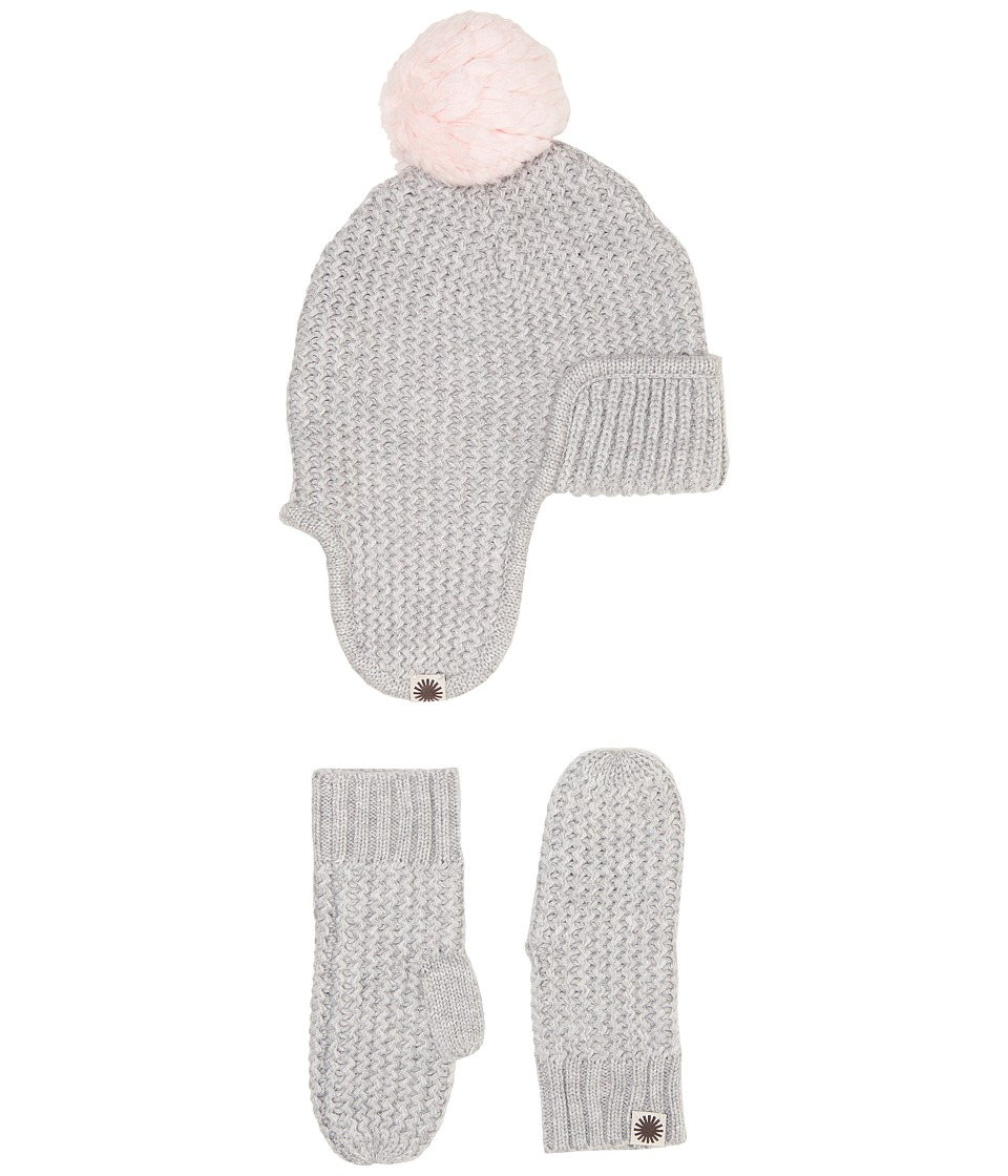 UGG Kids Trapper Hat/Mitten Gift Set (Toddler/Little Kids) (Sterling Heather Multi) Cold Weather Hats