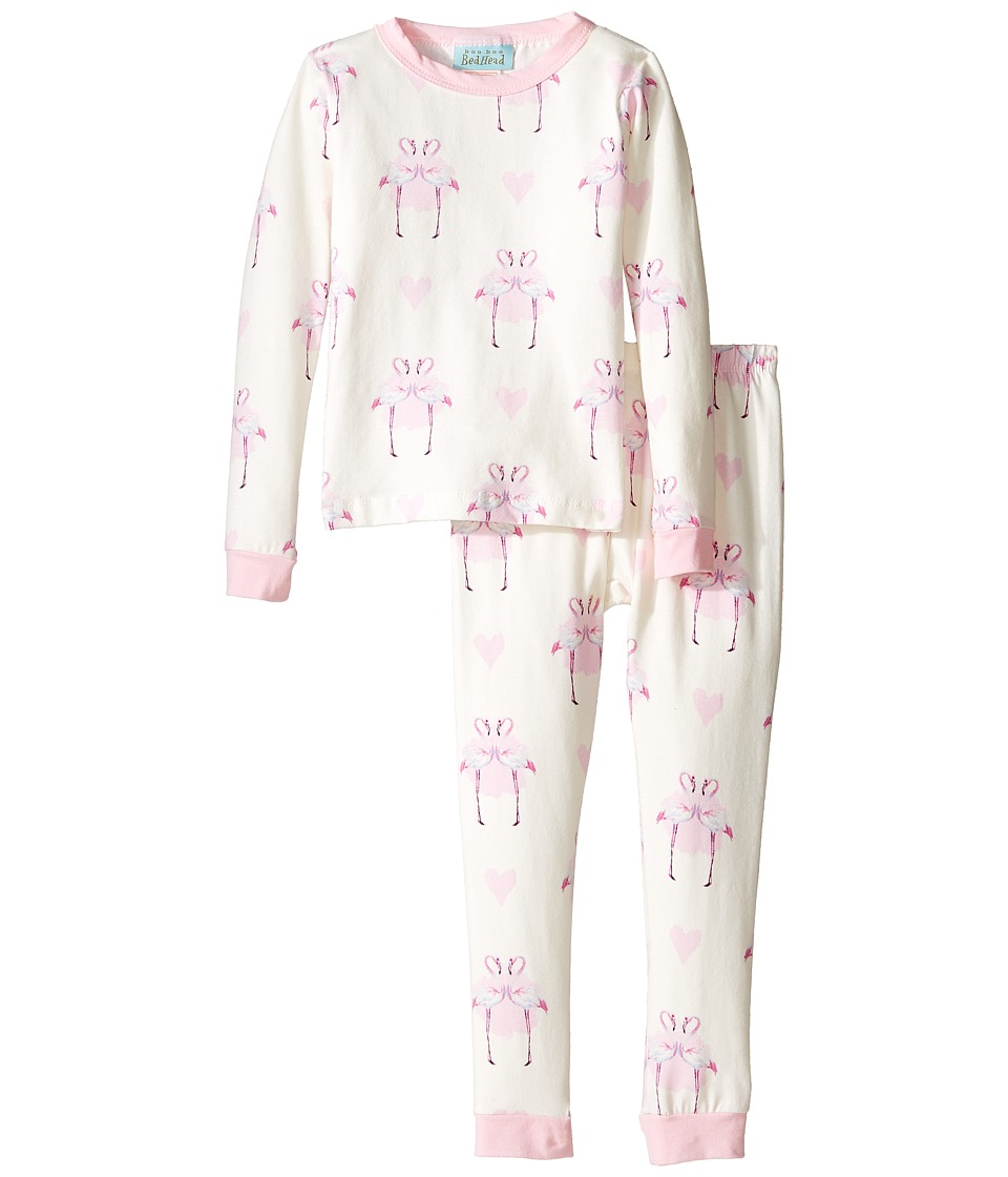 BedHead Kids - Long Sleeve Long Pants Set (Toddler/Little Kids) (Flamingo's in Love) Girl's Pajama Sets