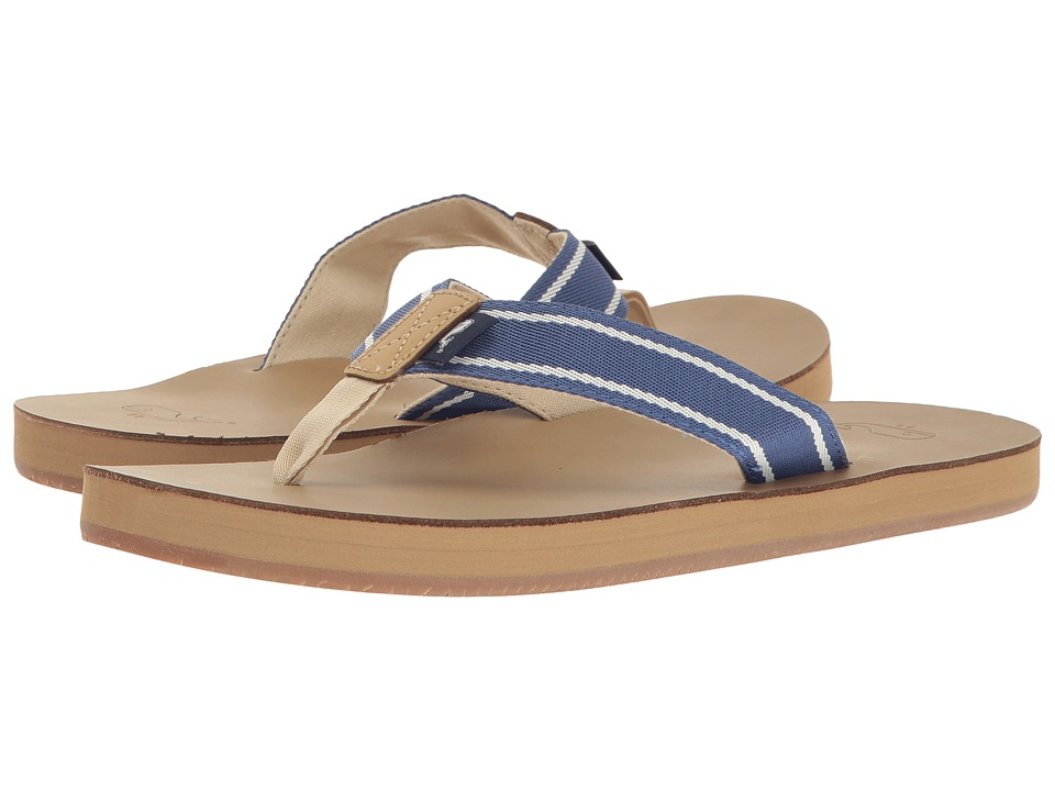 Vineyard Vines - Sailor Stripe Flip-Flop (Moonshine) Men's Shoes