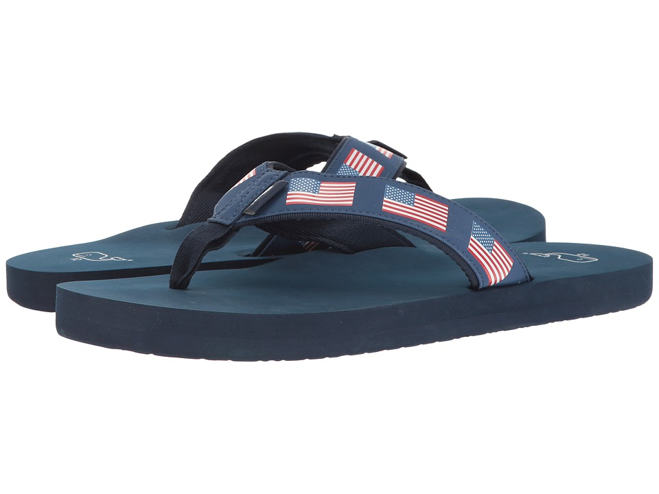 Vineyard Vines - Printed Flag Flip-Flop (Moonshine) Men's Sandals