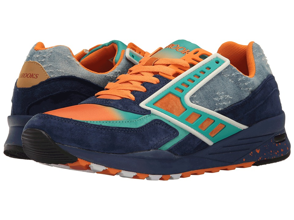 Brooks Heritage Regent (Turquoise/Orange/Peacoat) Men