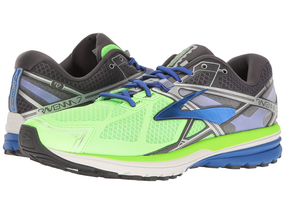 Brooks - Ravenna 7 (Green Gecko/Electric Brooks Blue/Anthracite) Men's Shoes