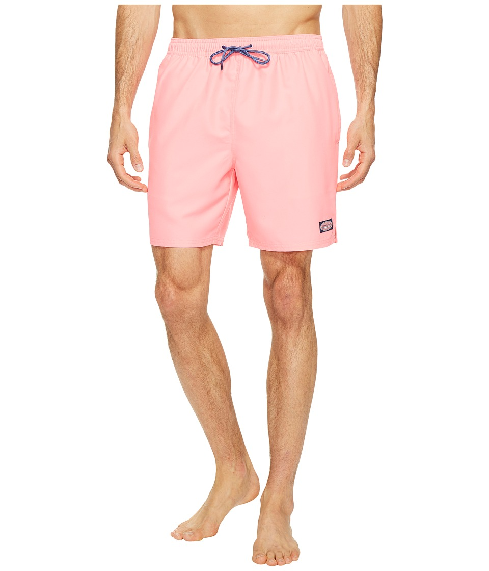 Vineyard Vines - Solid Bungalow Shorts (Washed Neon Pink) Men's Shorts