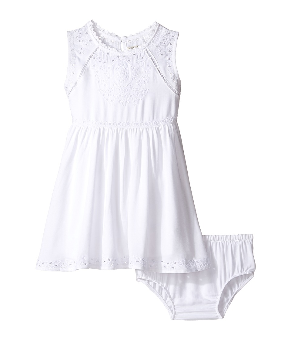 Lucky Brand Kids - Sleeveless Twill Eyelet Dress (Toddler) (Bright White) Girl's Dress