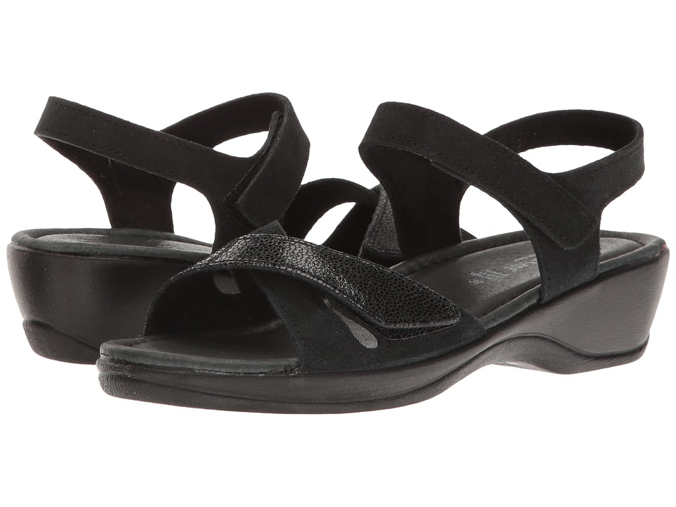 Spring Step - Candila (Black Suede) Women's Shoes