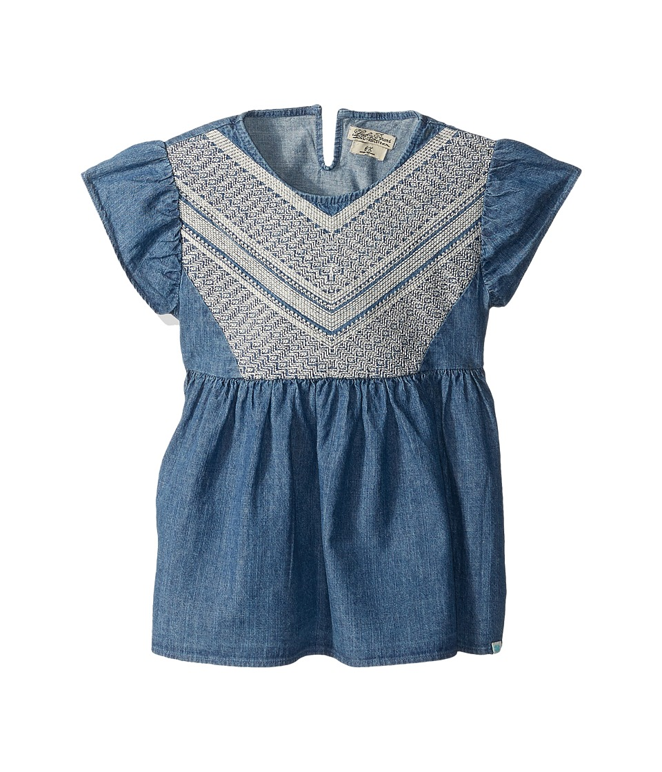 Lucky Brand Kids - Flowy Mixer Top in Chambray (Little Kids) (Medium Wash) Girl's Clothing