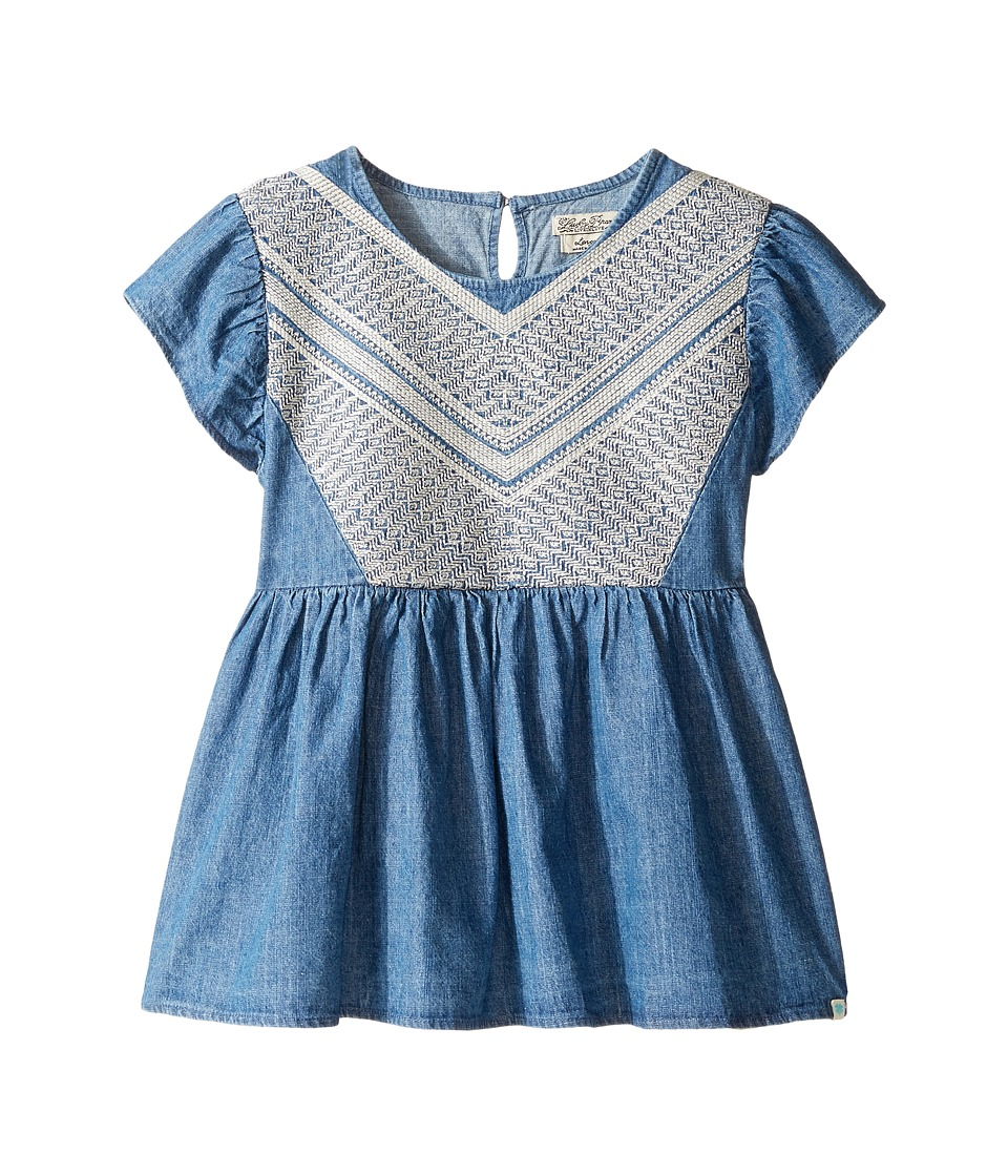 Lucky Brand Kids - Flowy Mixer Top in Chambray (Big Kids) (Medium Wash) Girl's Clothing