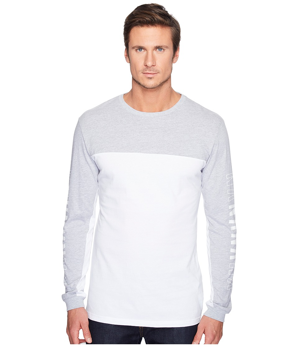 nANA jUDY - The Nana Long Sleeve Block Tee (Grey/White) Men's T Shirt