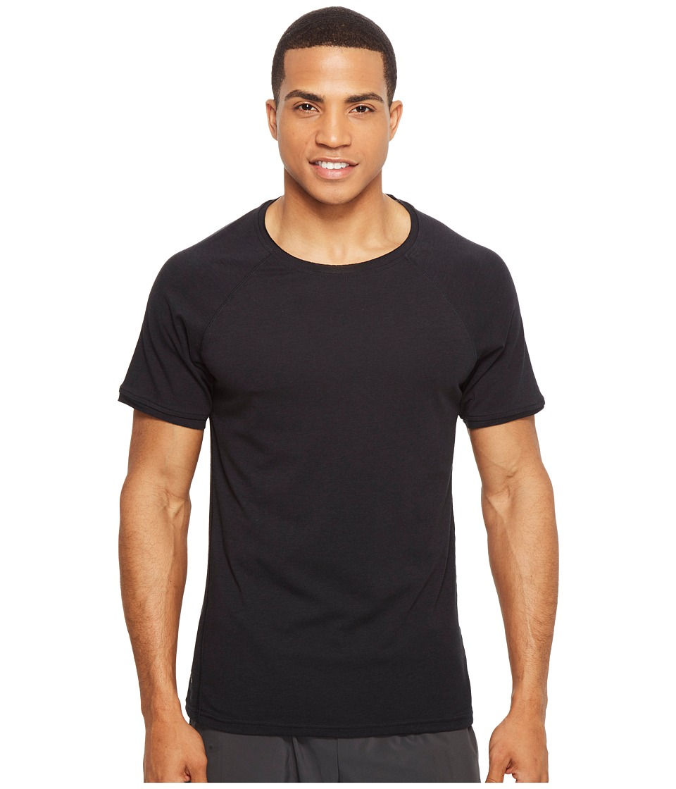 Manduka - Transcend Performance Raglan Tee (Black) Men's T Shirt