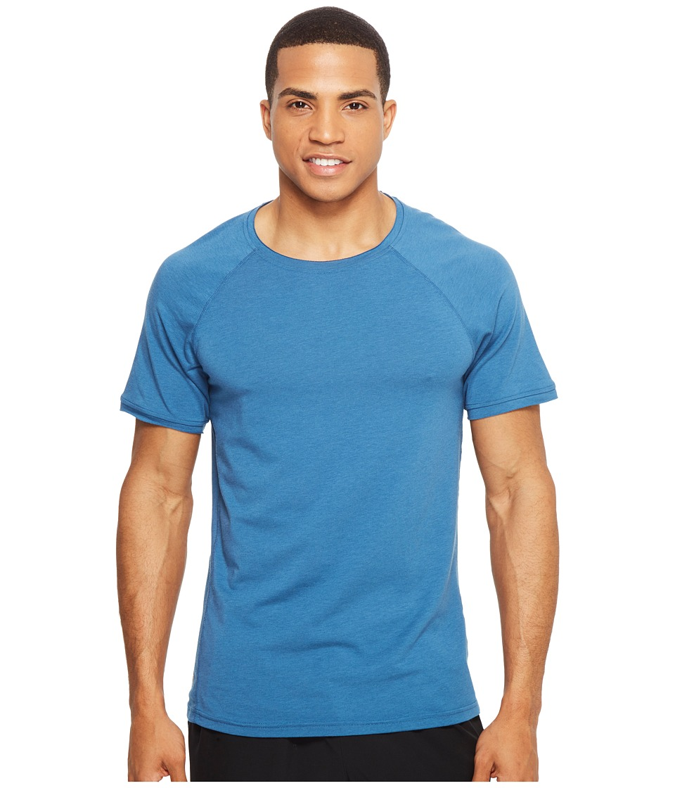 Manduka - Transcend Performance Raglan Tee (Aqua) Men's T Shirt
