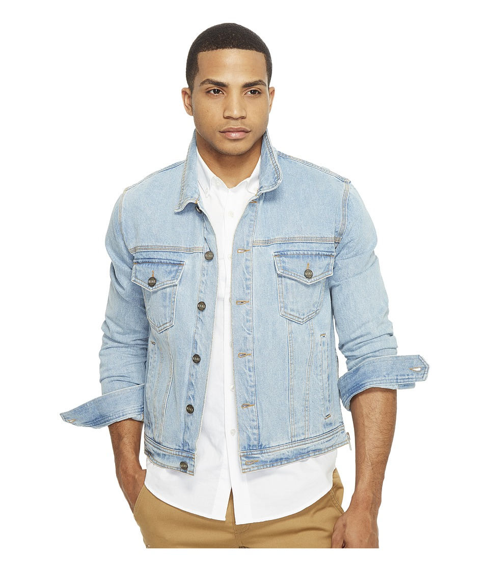 nANA jUDY - The Sawyer Denim Jacket with Zippers At Side Seam (Vintage Indigo) Men's Coat