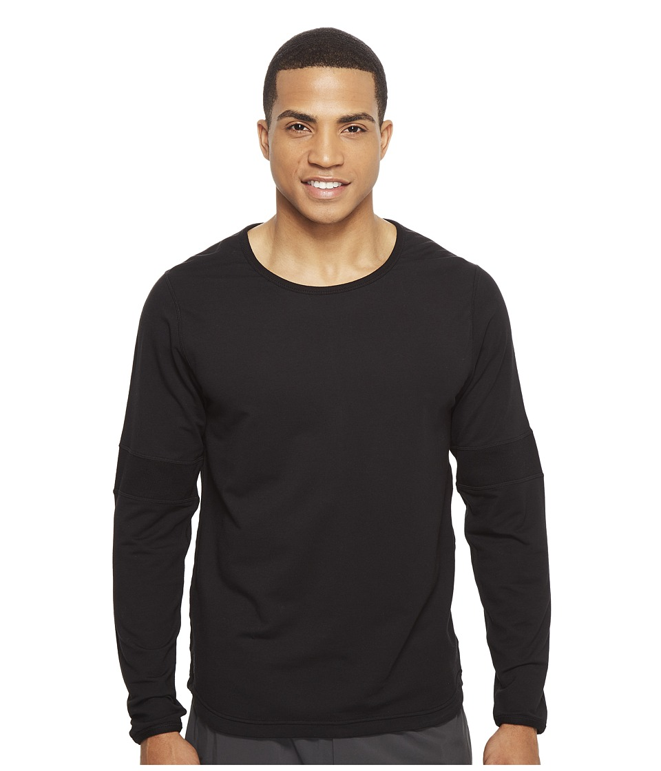 Manduka - Intentional Relaxed Crew (Black) Men's Clothing