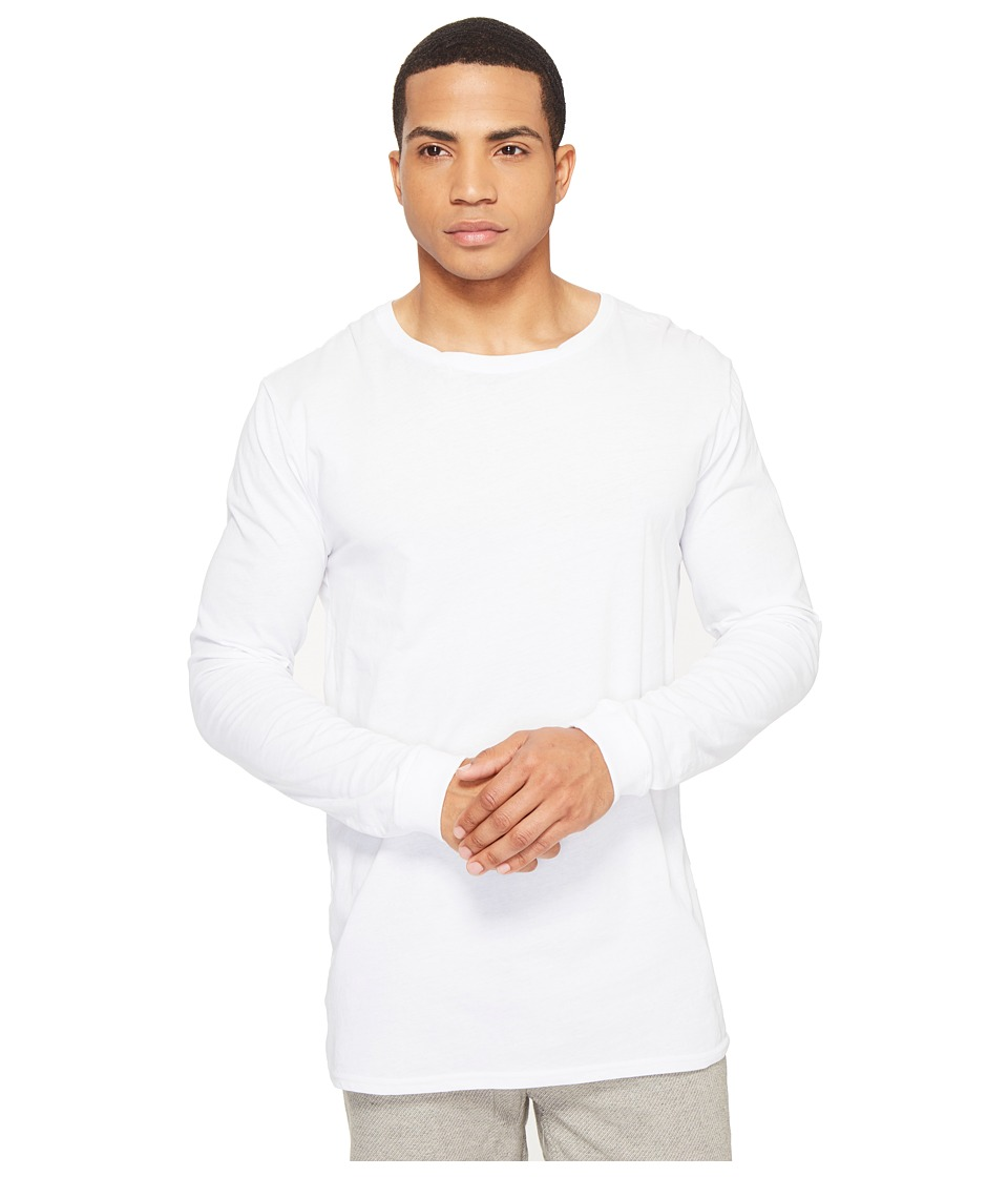 nANA jUDY - The Basic Long Sleeve (White) Men's Clothing