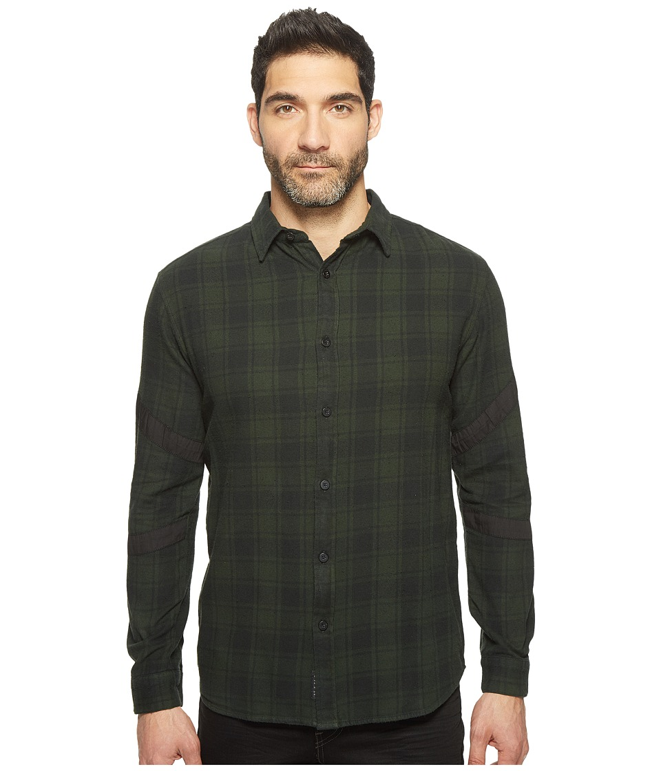 nANA jUDY - The Dreams Plaid Shirt with Contrast Black Panels (Khaki) Men's Clothing