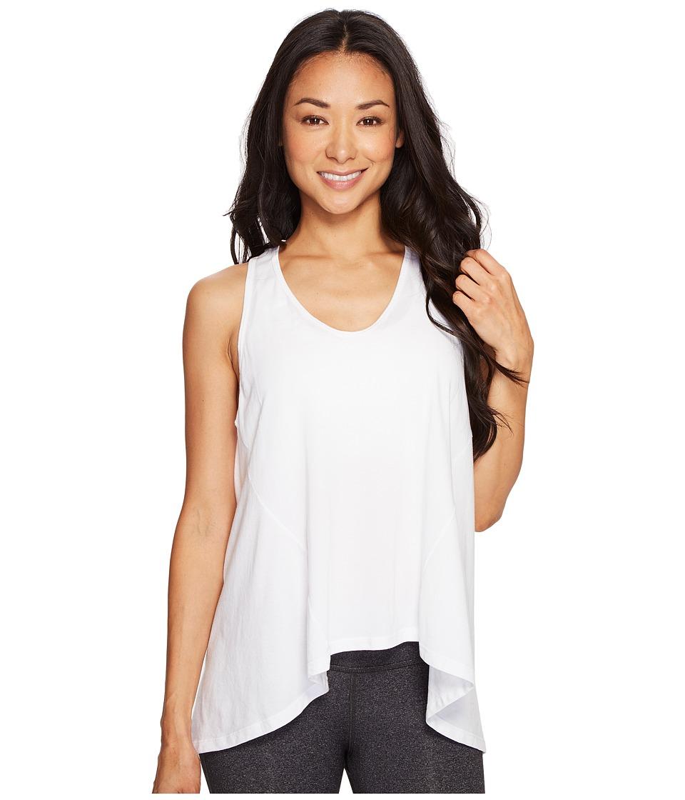 Manduka - Adorn Flow Tank Top (White) Women's Clothing