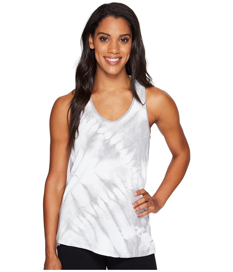 Manduka - Adorn Racer Back Tank Top (Feather Grey Print) Women's Clothing