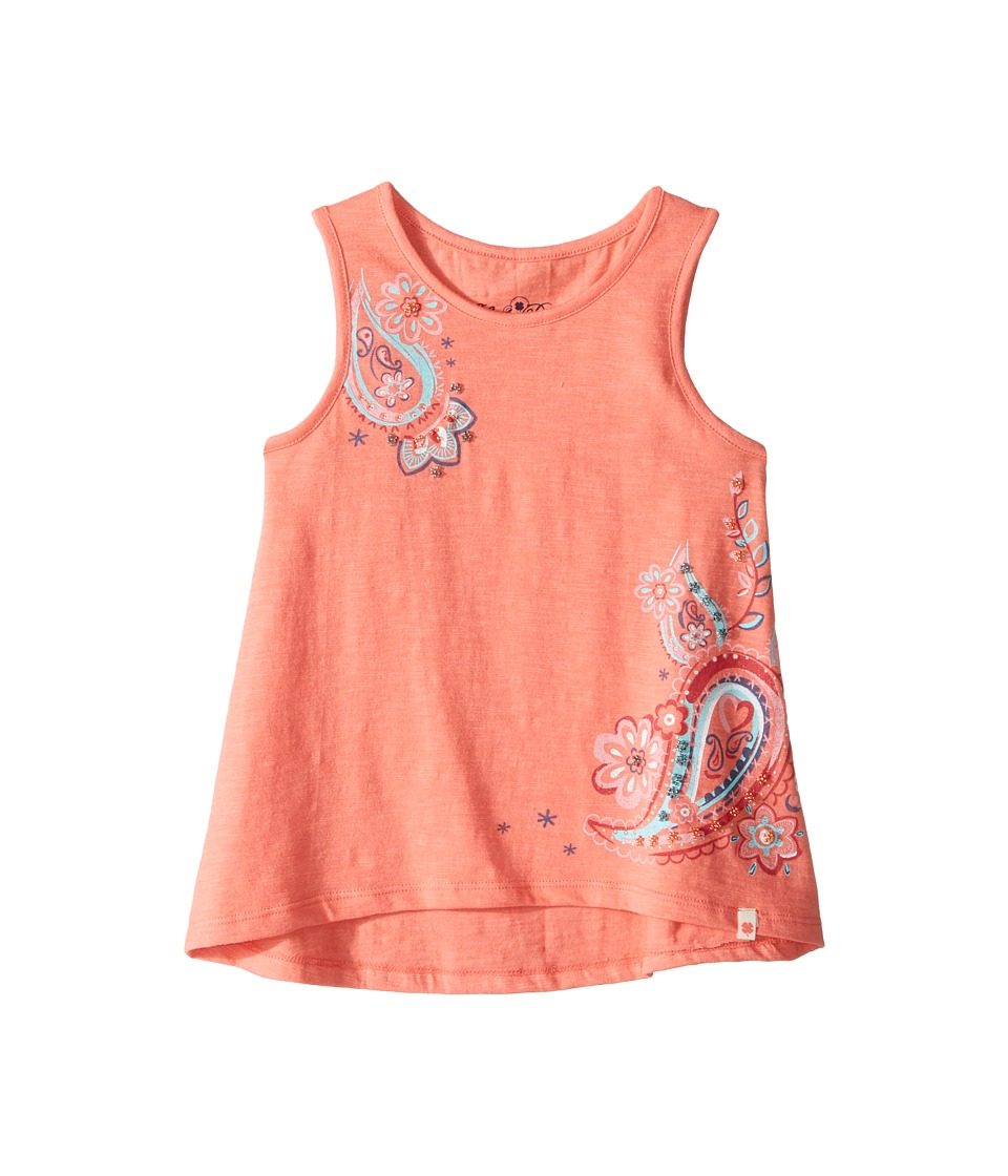 Lucky Brand Kids - Sleeveless Paisley Swing Tank Top (Little Kids) (Shell Pink) Girl's Sleeveless