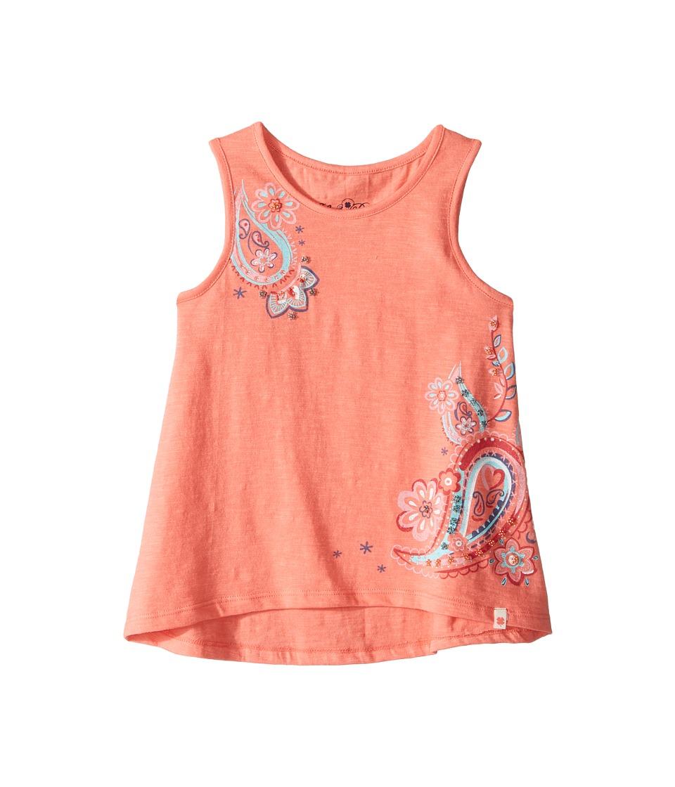Lucky Brand Kids - Sleeveless Paisley Swing Tank Top (Little Kids) (Shell Pink) Girl's Sleeveless