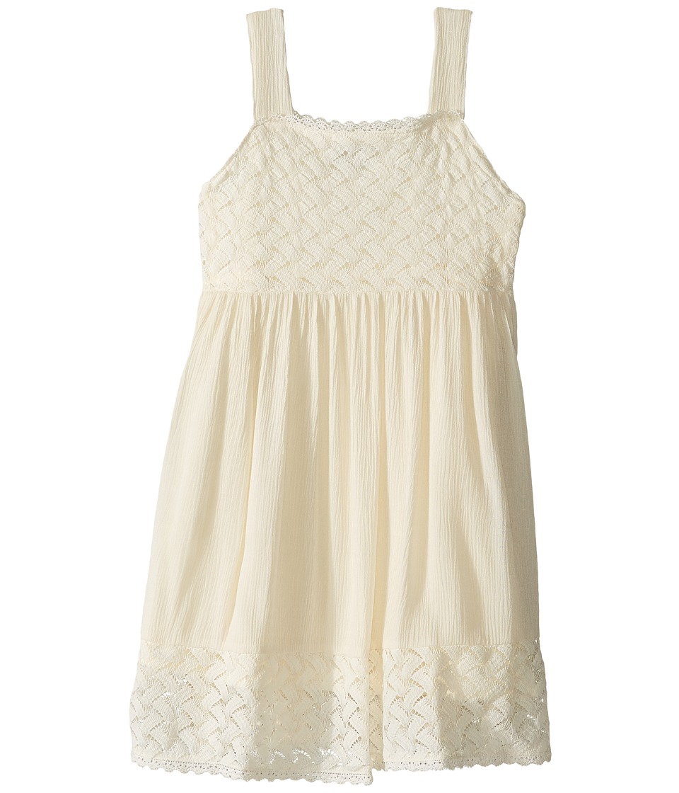 Lucky Brand Kids - Crinkle Lace Sun Dress (Little Kids) (Vanilla) Girl's Dress