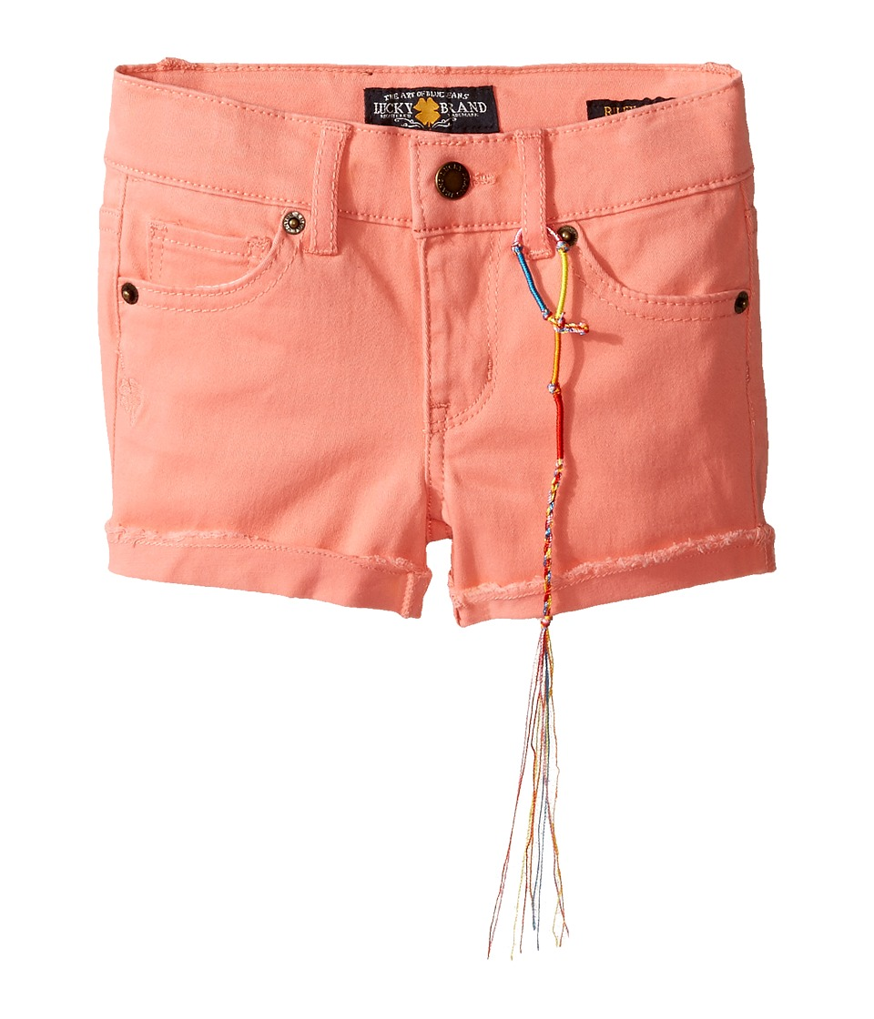 Lucky Brand Kids - Riley Stretch Twill Shorts (Toddler) (Shell Pink) Girl's Shorts