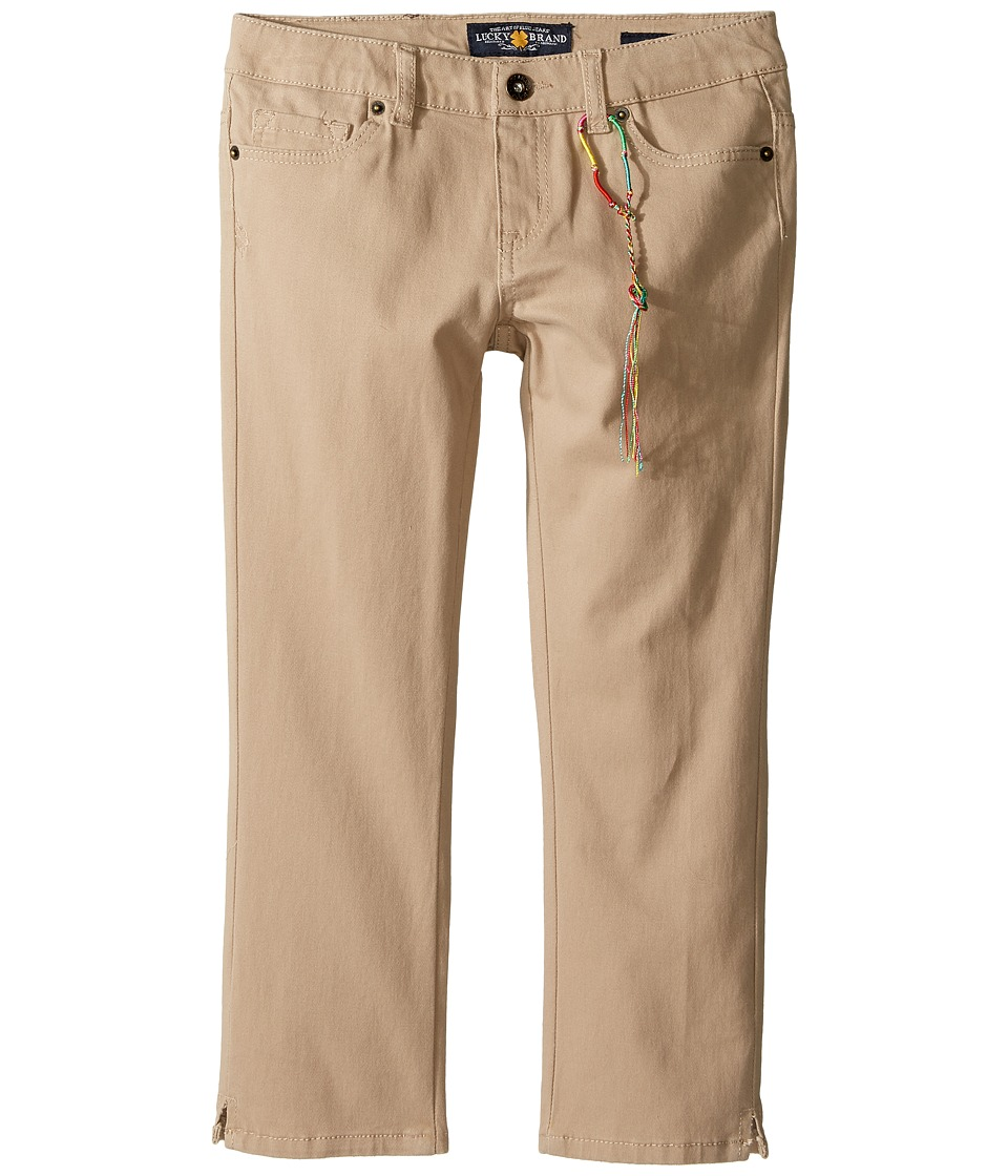 Lucky Brand Kids - Zoe Capri Pants with Slits (Big Kids) (Sand) Girl's Casual Pants