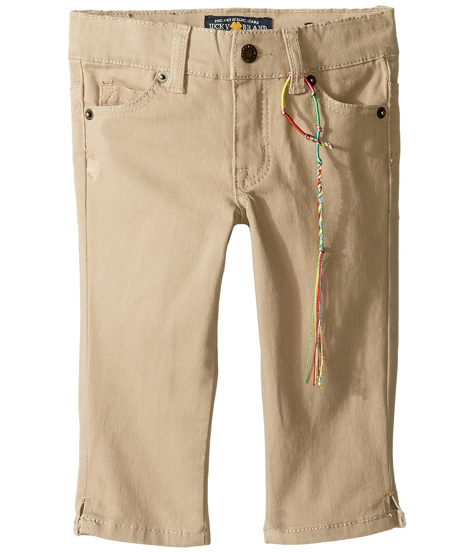 Lucky Brand Kids - Zoe Capri Pants with Slits (Little Kids) (Sand) Girl's Casual Pants