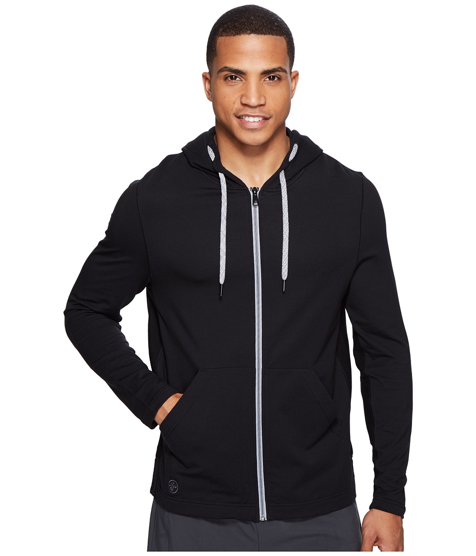 Manduka - Intentional Zip Hoodie (Black) Men's Sweatshirt