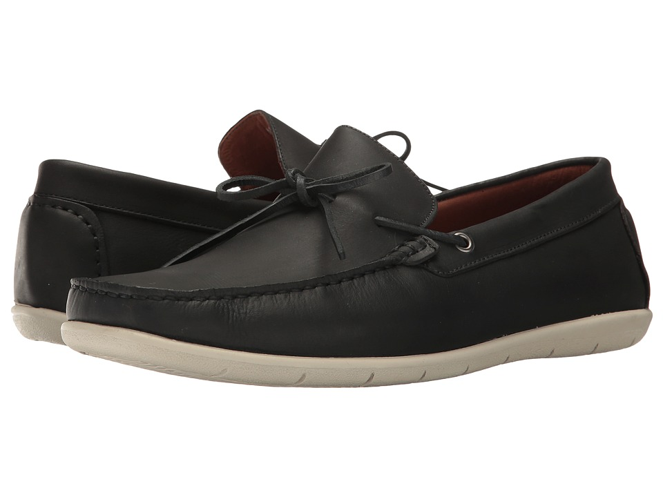 Massimo Matteo - Driver 1-Eye (Black) Men's Slip on Shoes