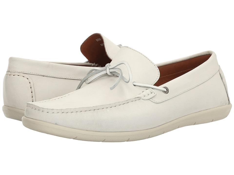Massimo Matteo - Driver 1-Eye (White) Men's Slip on Shoes