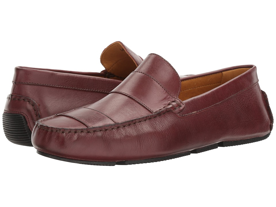 Massimo Matteo Leather Strap Driver (Burnished Burgundy) Men