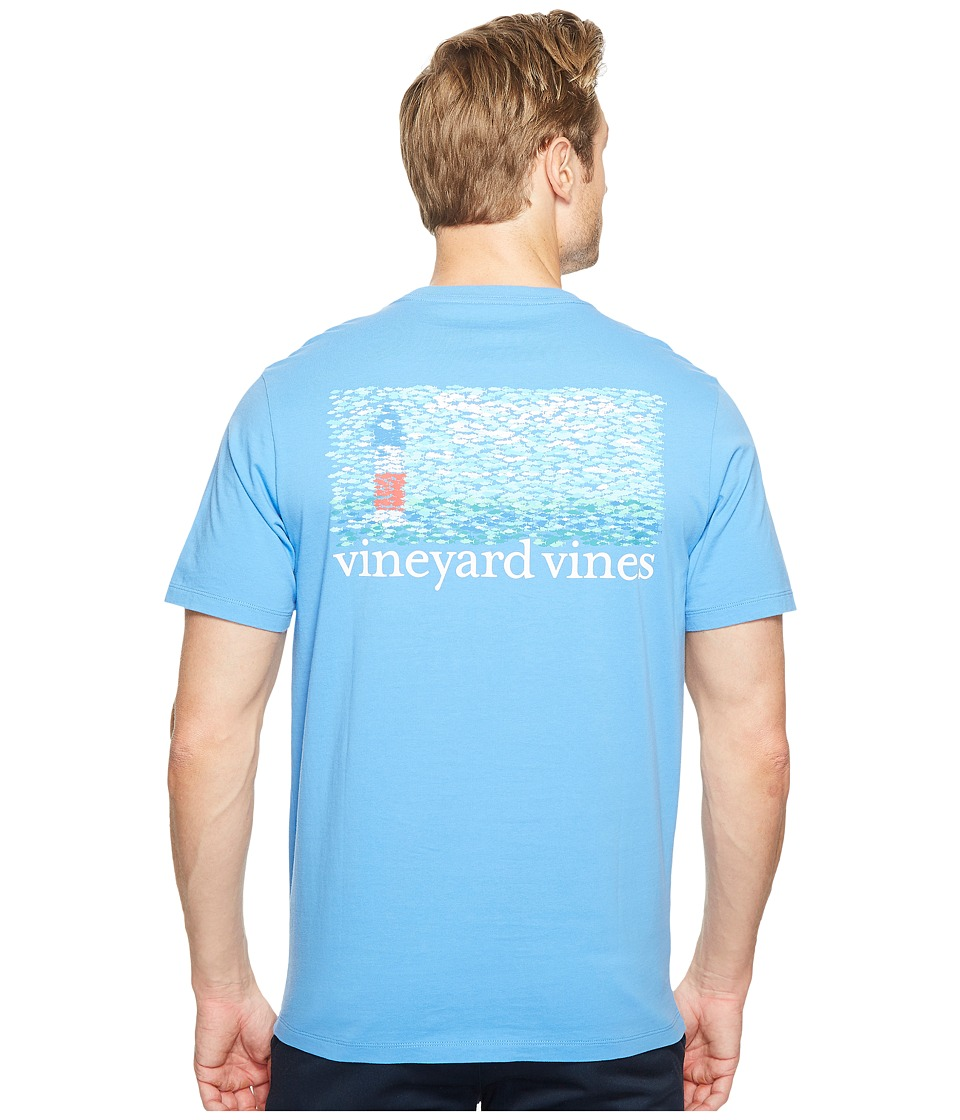 Vineyard Vines - Short Sleeve Fish Lighthouse Pocket T-Shirt (Bimini Blue) Men's T Shirt