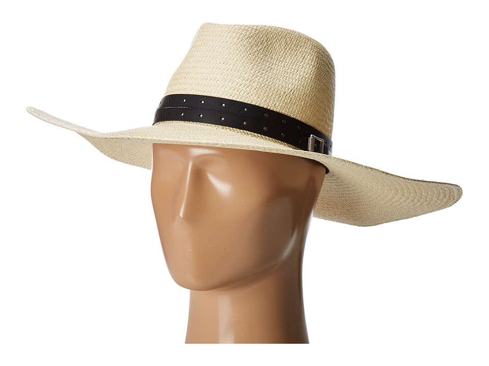 rag & bone - Wide Brim Panama Hat (Natural) Traditional Hats