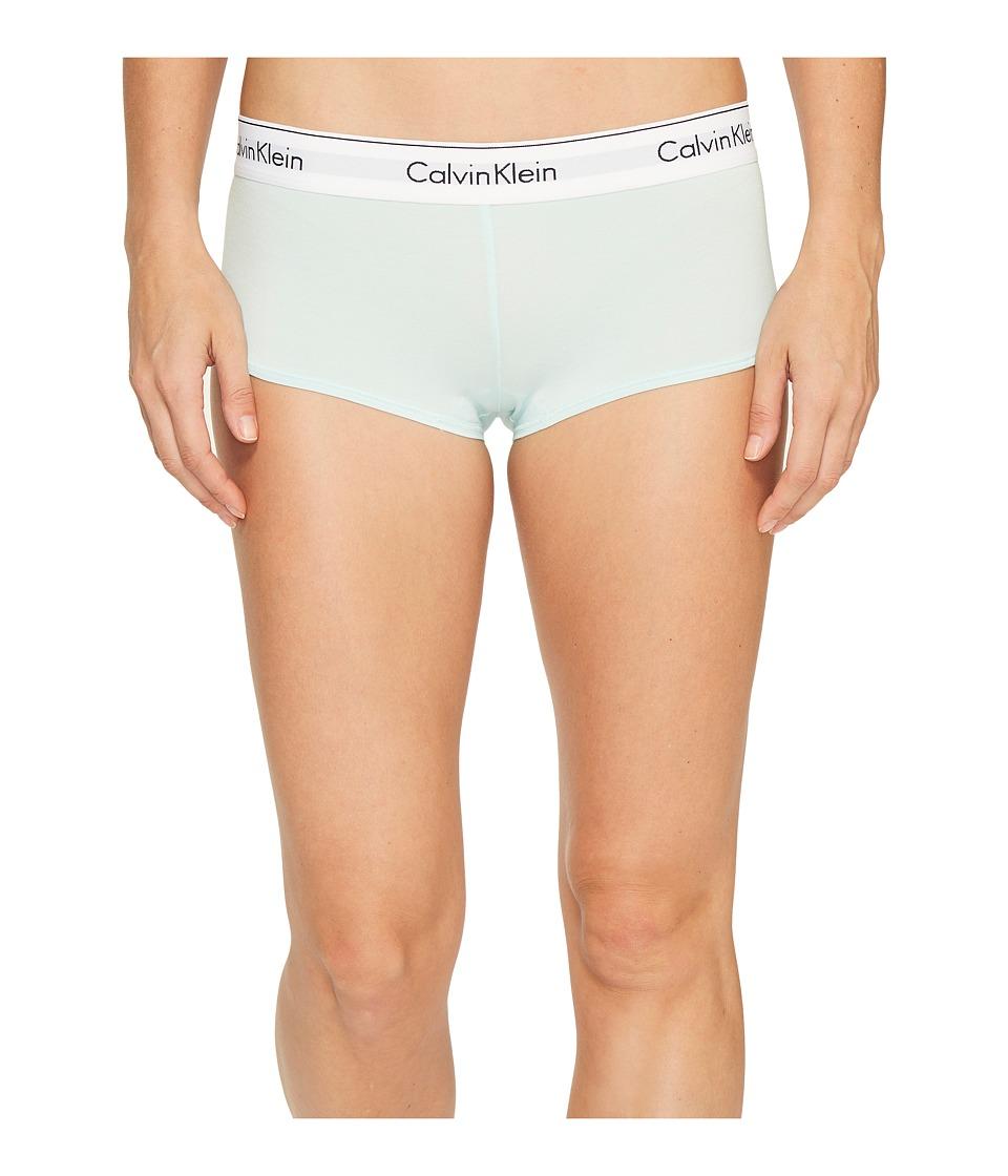 Calvin Klein Underwear - Modern Cotton Boyshort (Salt Lake) Women's Underwear