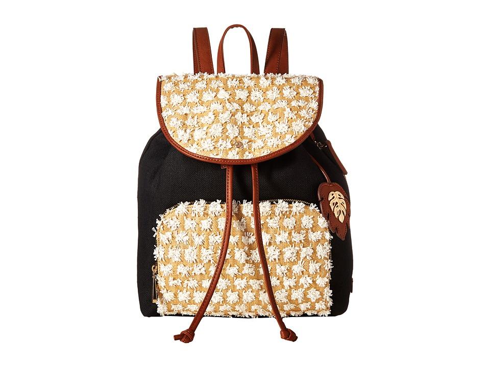 Tommy Bahama - Koki Beach Backpack (Black/White) Backpack Bags