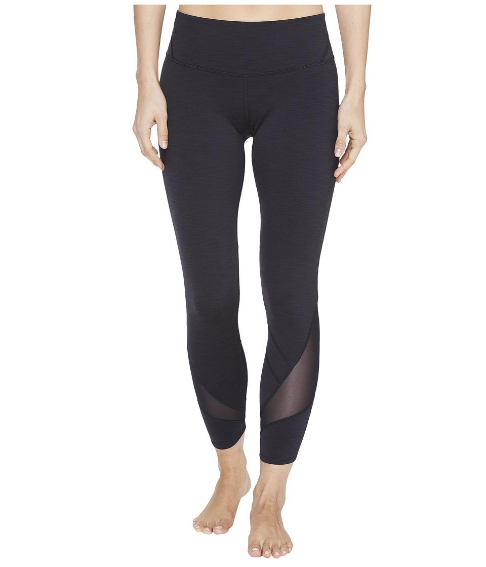 Manduka - Linea Cropped Leggings (Black) Women's Casual Pants