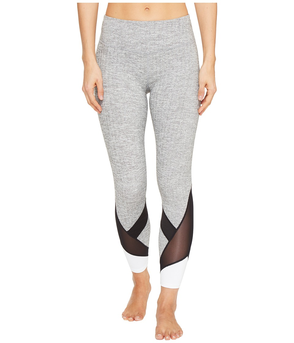 Manduka - Linea Cropped Leggings (Herringbone) Women's Casual Pants