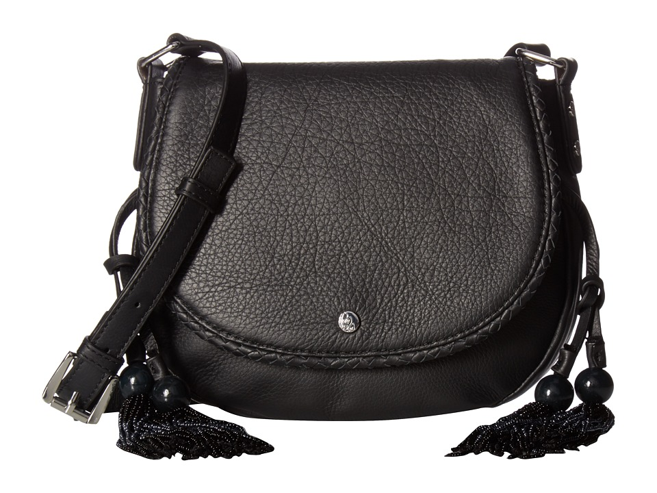 Tommy Bahama - Mykonos Saddle Bag (Black) Cross Body Handbags