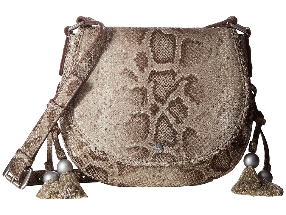 Tommy Bahama - Mykonos Saddle Bag (Pewter) Cross Body Handbags