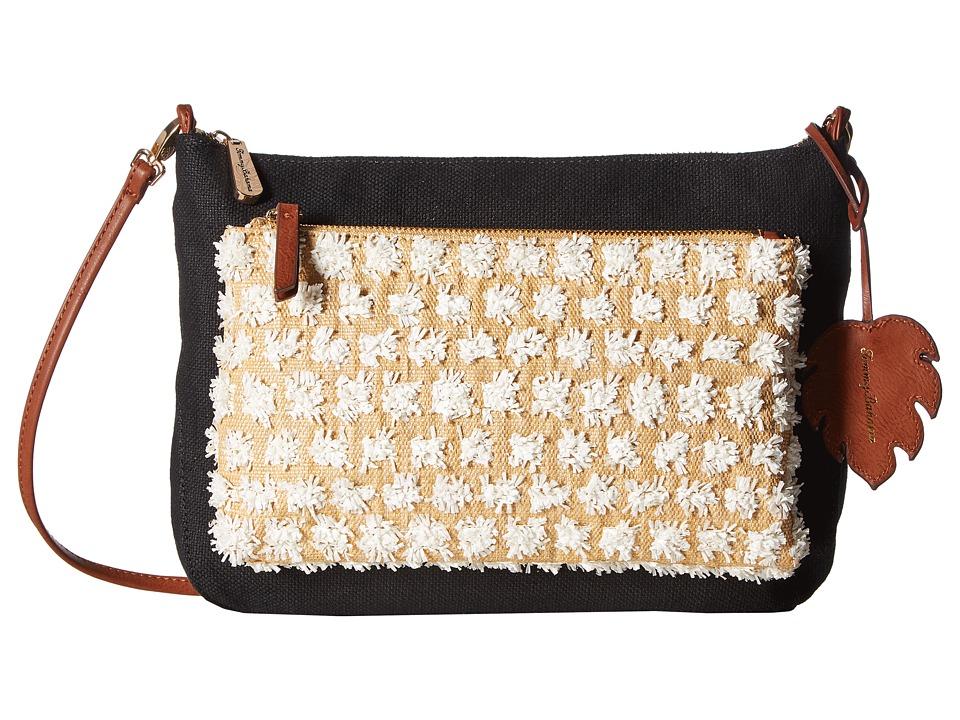 Tommy Bahama - Koki Beach Crossbody (Black/White) Cross Body Handbags
