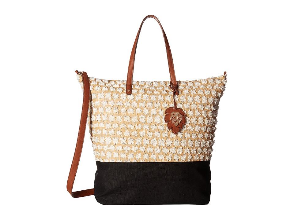 Tommy Bahama - Koki Beach Tote (Black/White) Tote Handbags