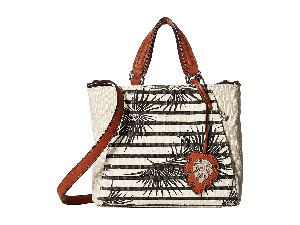 Tommy Bahama - Reef Convertible Crossbody (Striped Palm/Metallic Linen) Cross Body Handbags
